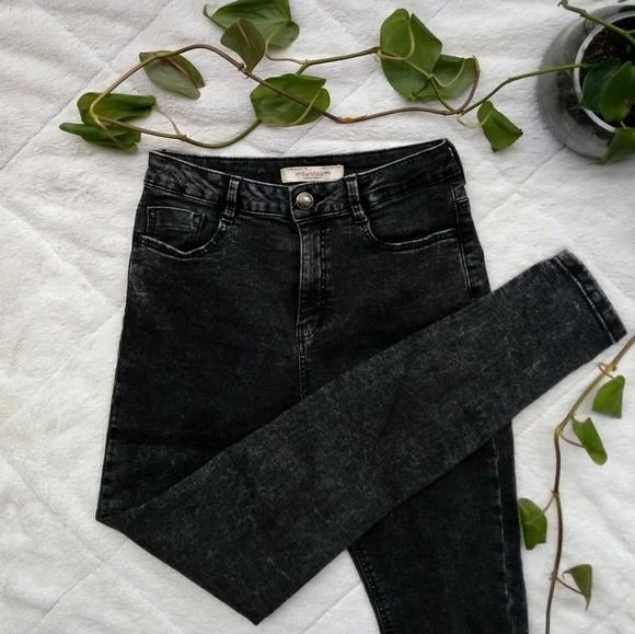 559e5a50ab3c2 🕷️Bershka Black Acid Washed Jeans Skinny